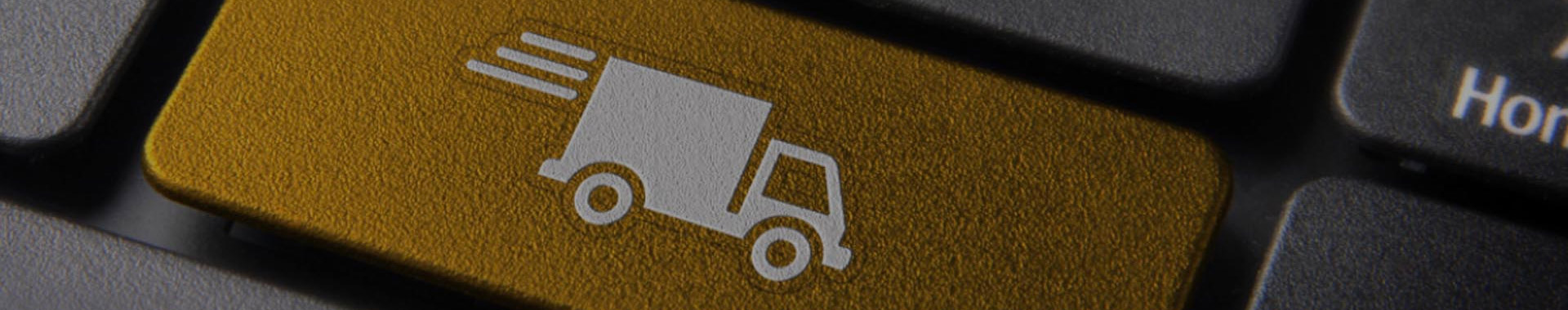 botão com imagem de caminhão de entrega
