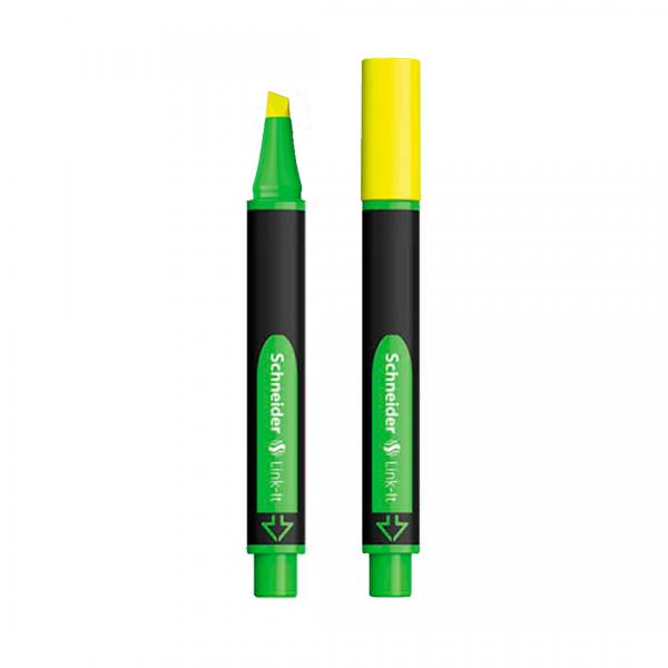 marcador de texto amarelo com e sem tampa