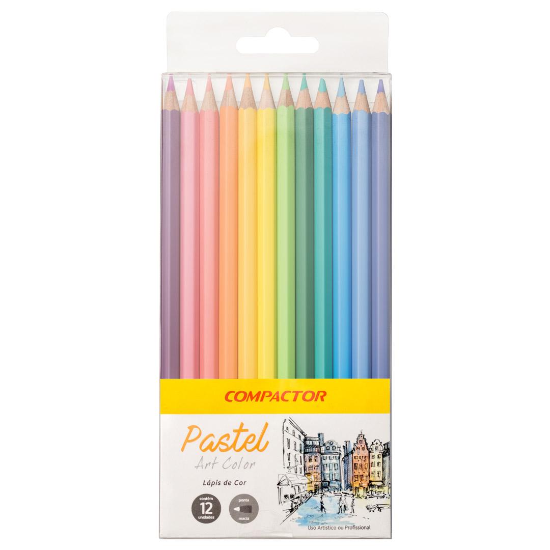 619d4dbe6a Lápis de Cor Art-Color Pastel 12 cores - Canetas Compactor