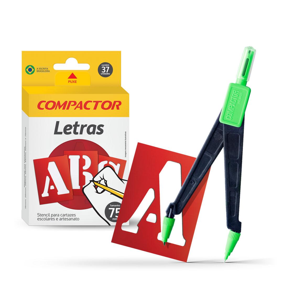 Letras ABC e Compasso Jolly