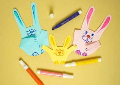 Como fazer um coelhinho de papel com as crianças