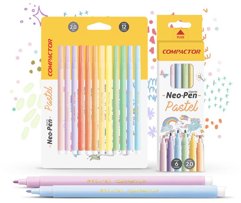 Hidrográficas Neo-Pen Pastel Compactor
