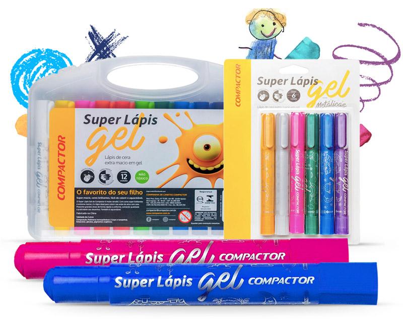 Super Lápis Gel da Compactor