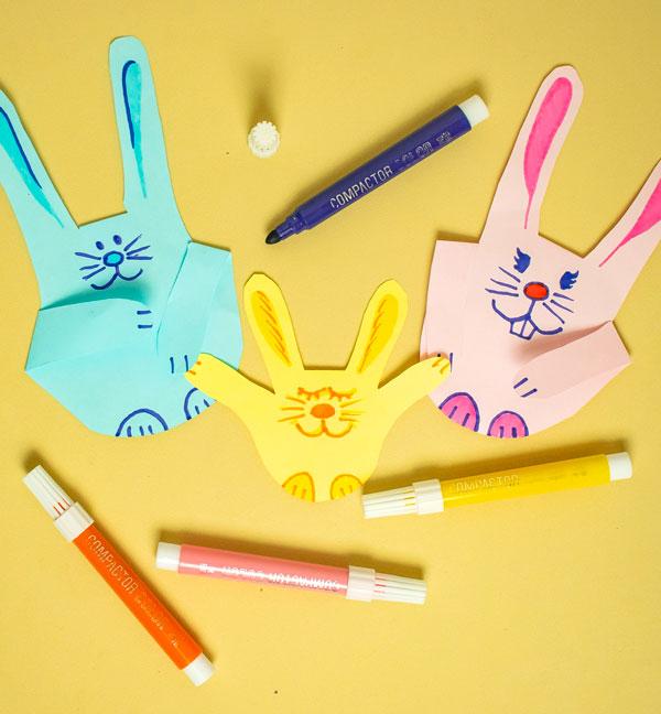 Como fazer um coelhinho da páscoa de papel