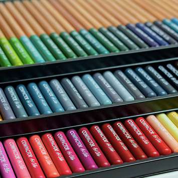 Novo Lápis de Cor Art-Color Compactor 100 Cores